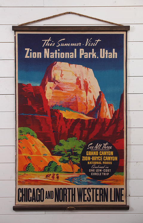 Zion National Park Canvas Wall Chart (3310)