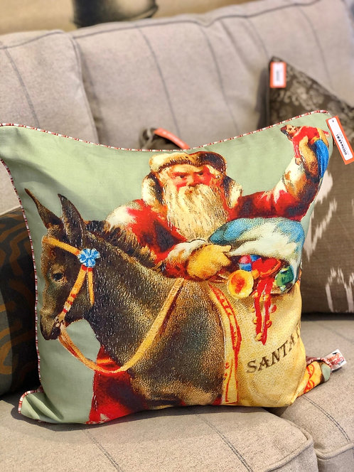 Santa with Burro pillow