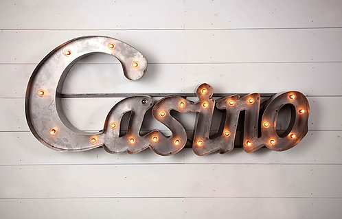 Decorative Casino Sign