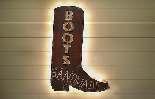 Decorative Cowboy Boot Sign