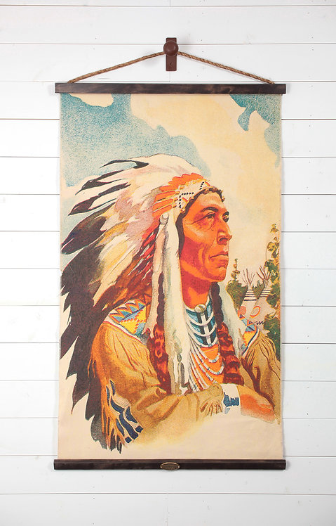 Native American Chief Canvas Wall Chart (2366)