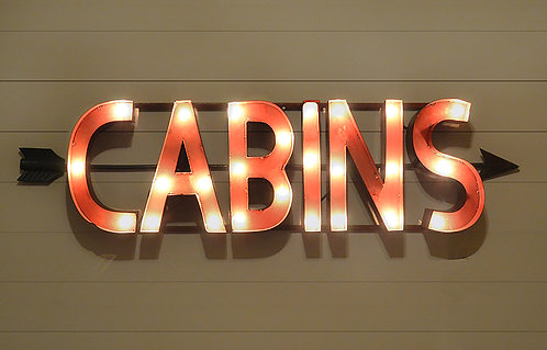 Decorative Cabins Sign