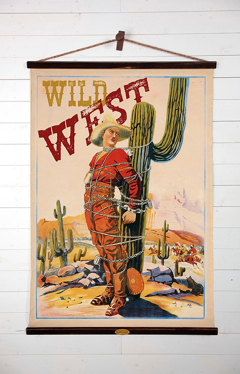 Wild West Canvas Wall Chart (2211)