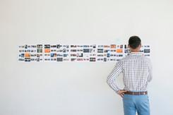 Art director looking at storyboard