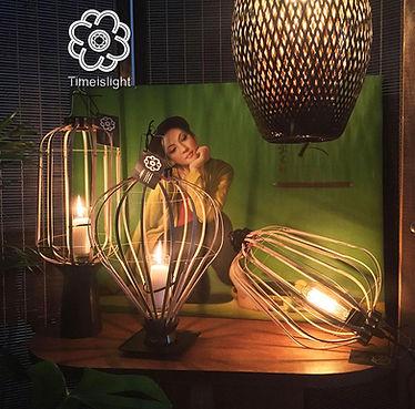 time is light. timeislight. lampe en bambou