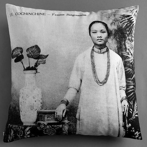 Coussin - Femme Saigonnaise - Very Ngon - 45 cm x 45 cm