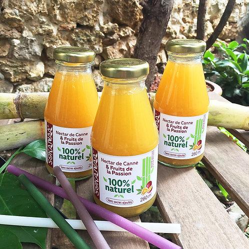 Nectar de canne à sucre et Fruits de la passion - 260 ml - Lot de 3 bouteilles