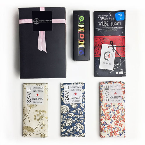 "Boîte cadeau - saveurs ""chocolathés"" -"