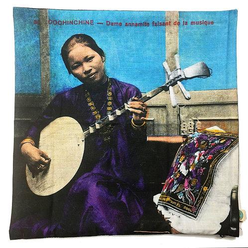 Enveloppe de coussin zip en couleurs - Dame Annamite - Very Ngon  45 cm x 45 cm