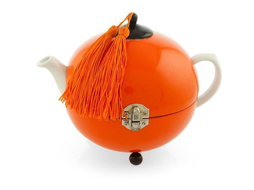 Tea pot warmer - Michele de Albert - Laque orange