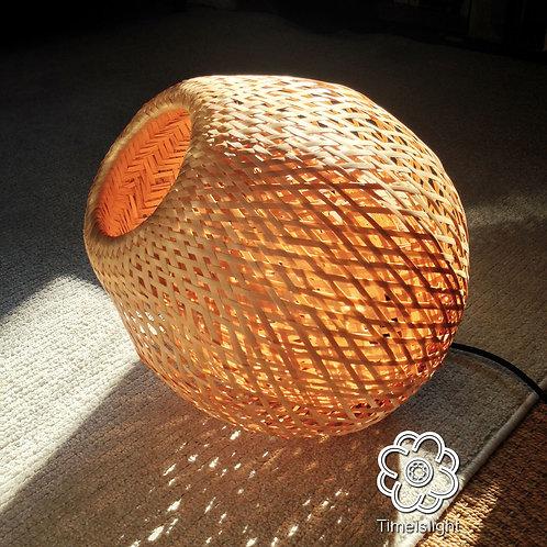 Lampe baladeuse en bambou - LUMIÈRE NOMADE + variateur - Ø 35 cm x H 37 cm