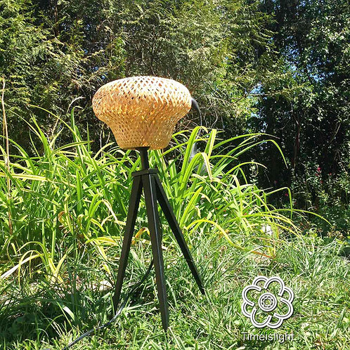 Lampe tripode en bambou COLLYBIE - Ø 23.50 cm x H 52 cm - Timeislight
