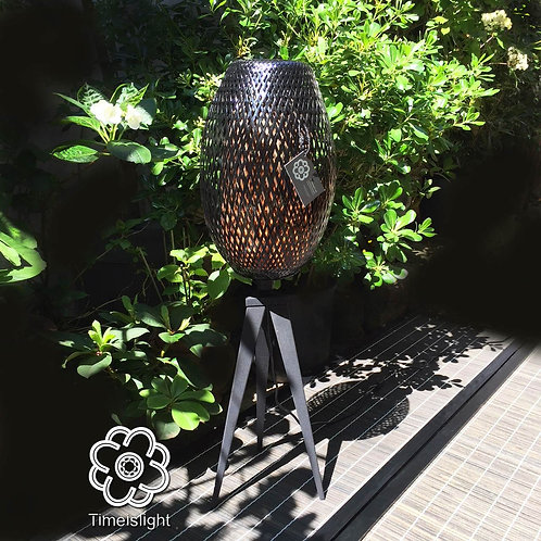 Lampe tripode en bambou COCOON TRIPODE NOIR - Ø 28 cm x H 89 cm - Timeislight