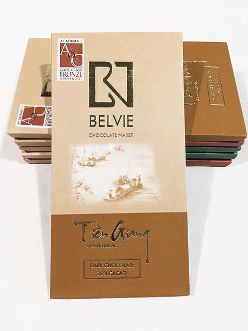Chocolat Tien Giang - Belvie - 70% cacao - Tablette de 80 g