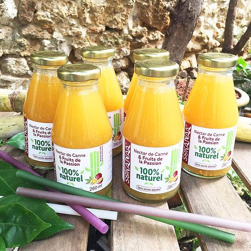 Nectar de canne à sucre et Fruits de la passion - 260 ml - Lot de 6 bouteilles