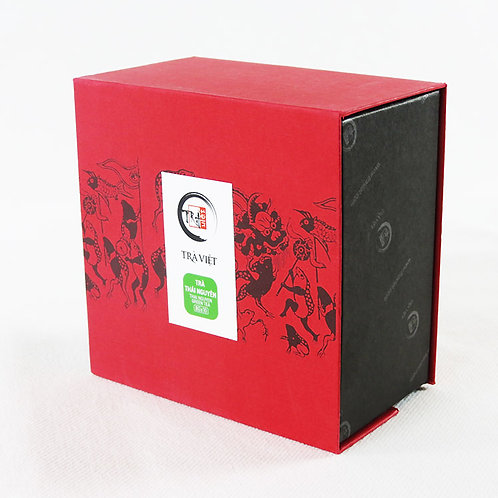 Thé Thái Nguyên - Trà Việt - Boîte carrée - 10 sachets de 8 g