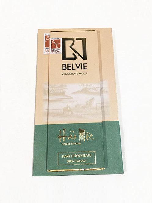 Chocolat Hao Moc - Belvie - 80% cacao - Mini tablette de 27 g