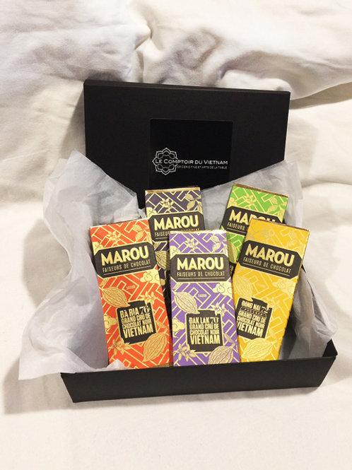 Collection Marou (Coffret de 5 mini tablettes de 24 g)