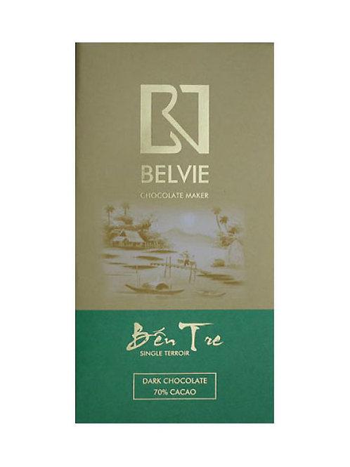 Chocolat noir Ben Tre - Belvie - 70% de cacao - Tablette de 80 g