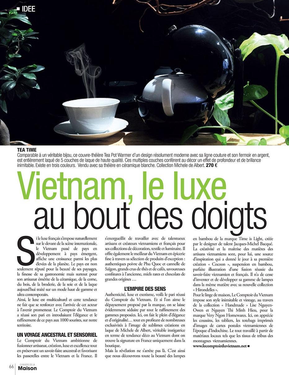 Le Comptoir du vietnam Communiqué de presse