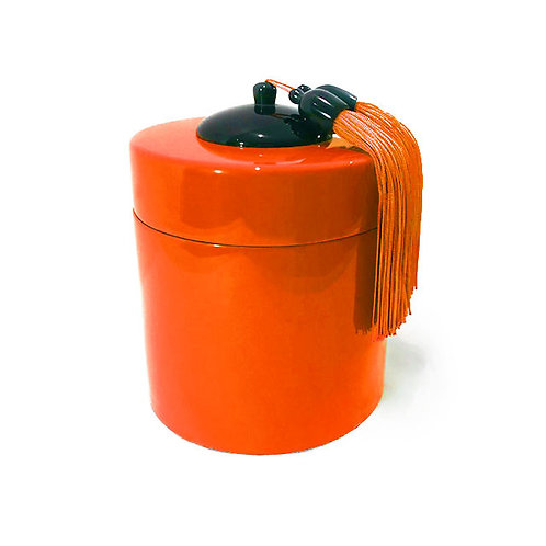 Boîte à thé - Michele de Albert - Laque orange