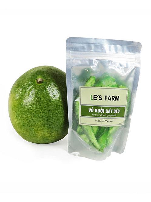 Ecorces de pamplemousse confites - Le's Farm - Sachet de 200 g