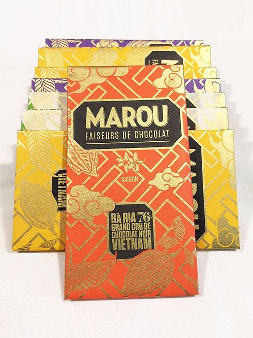 Chocolat Ba Ria - Marou - 76% de cacao - Tablette de 80 g