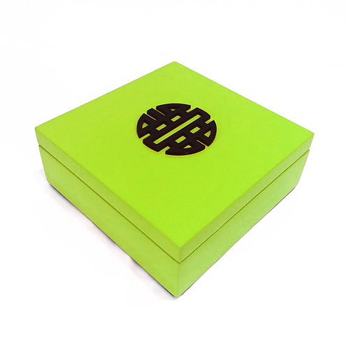 Square box double happyness - Michele de Albert - Laque verte