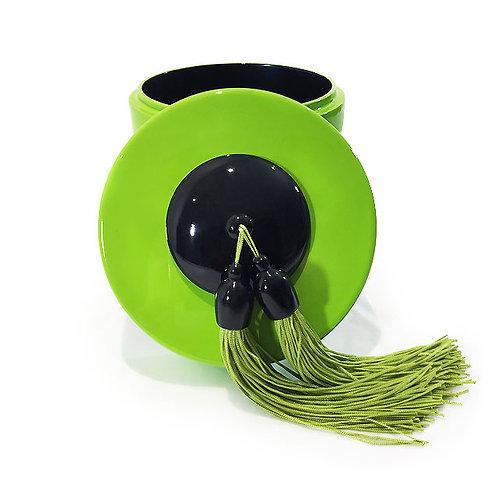 Boîte à thé - Michele de Albert - Laque verte