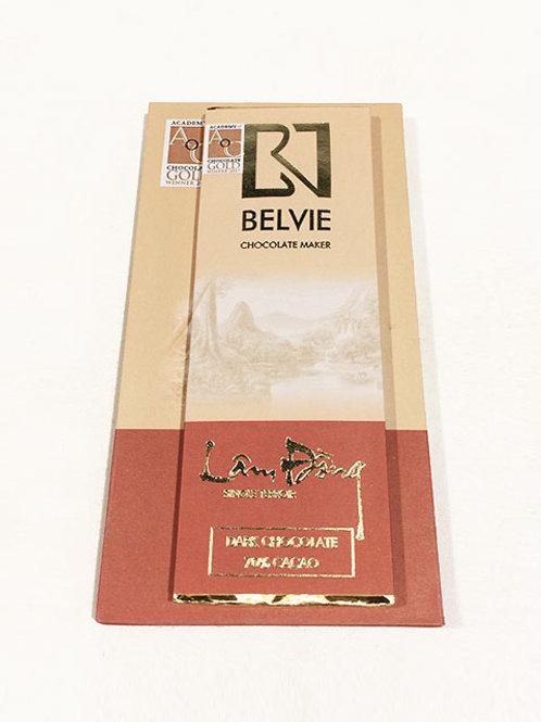 Chocolat Lam Dong - Belvie - 70% de cacao - Mini tablette de 27 g