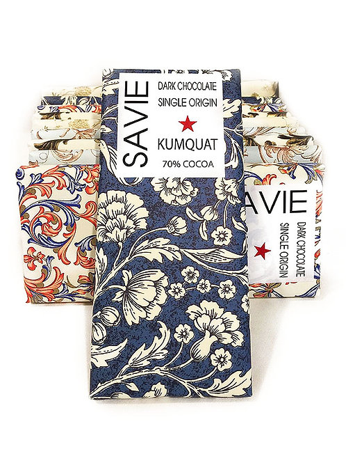 Chocolat au kumquat - Savie - 70% de cacao - Tablette de 70 g