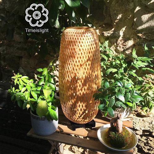 Lampe en bambou ROSEAU avec variateur - Ø 23 cm x H 55 cm - Timeislight