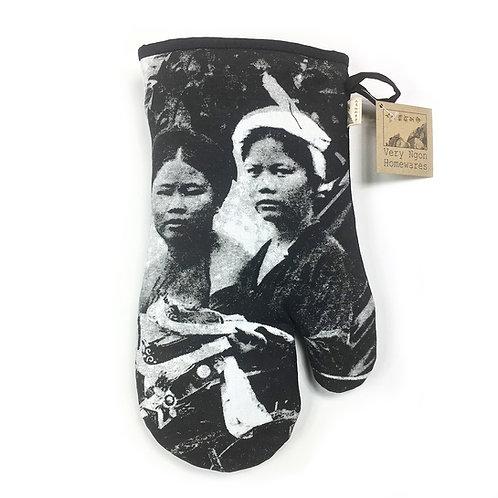 Gant de cuisine en coton - Tonkin Cyclo pousse - Very Ngon - 30 cm x 16 cm