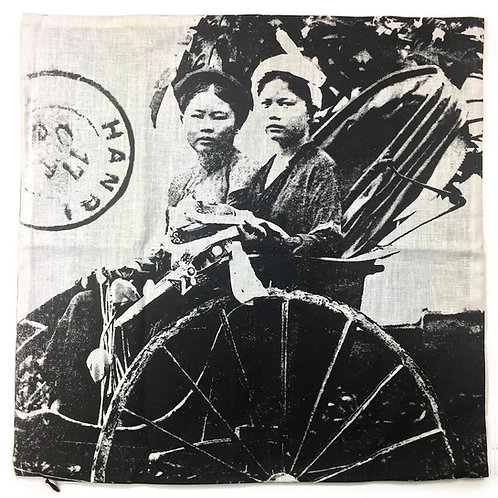 Enveloppe de coussin zip - Tonkin Cyclo Pousse - Very Ngon - 45 cm x 45 cm