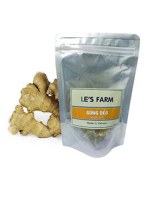 Gingembre confit - Le's Farm - Sachet de 200 g