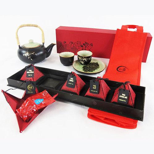 Boîte cadeau prestige de 5 pyramides de thés parfumés