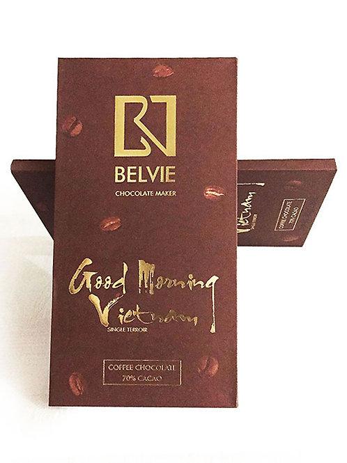 Chocolat Good Morning Vietnam - Belvie - 70% cacao - Tablette de 80 g