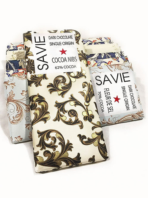Chocolat au grué de cacao - Savie - 62% de cacao - Tablette de 70 g