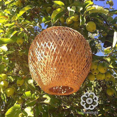 Suspension en bambou POMME - Ø 35 cm x H 37 cm - Timeislight