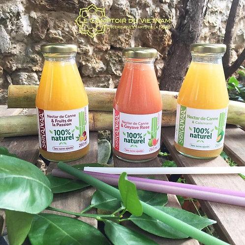 Nectars de canne à sucre - Passion, Goyave, Calamansi - Lot de 3 bouteilles