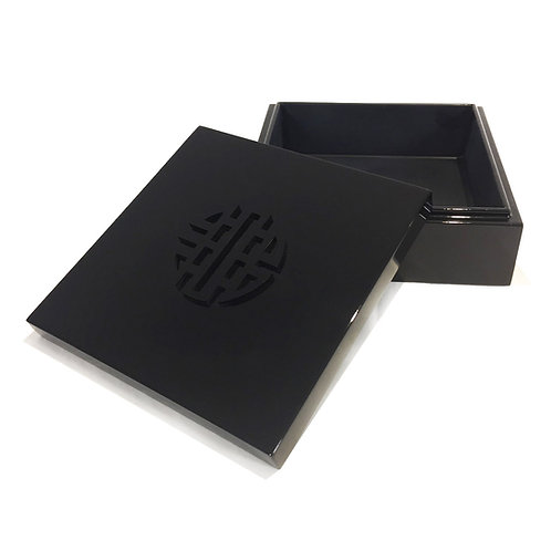 Square box double happyness - Michele de Albert - Laque noire