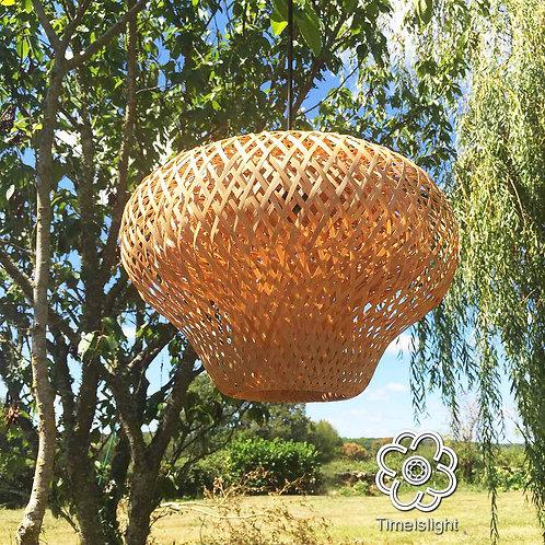 Suspension en bambou LOTUS - Ø 37 cm x H 28 cm - Timeislight