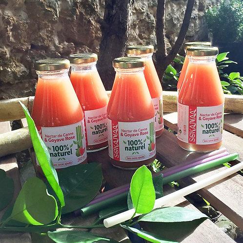 Nectar de canne à sucre vietnamien et Goyave rose  - 260 ml - Lot de 6