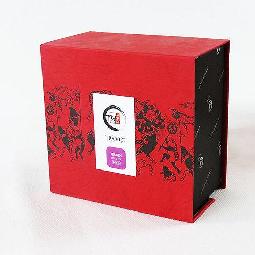 Thé au Lotus  - Trà Việt - Boîte carrée - 10 sachets de 8 g