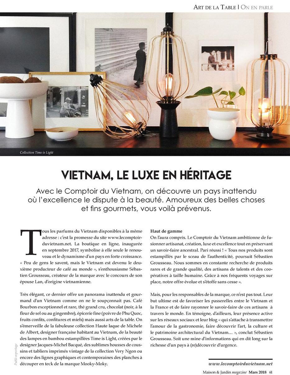 Le Comptoir du vietnam Communiqué de presse 2017