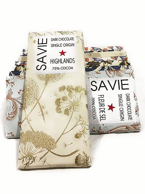 Chocolat Highlands - Savie - 75% de cacao - Tablette de 70 g