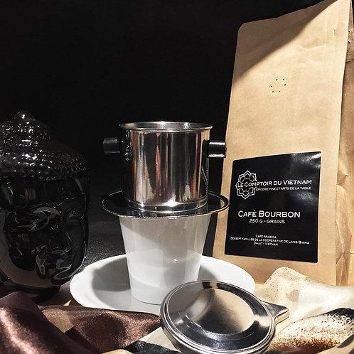 Café en grains vietnamien - Bourbon rouge - Paquet de 250 g