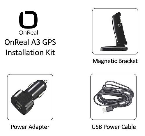 OnReal A3 GPS Dash Camera Installation Kit