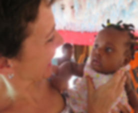 The babies in Haiti all love Carolin