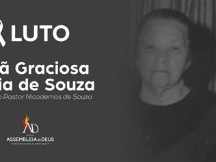 Nota de Falecimento - Irmã Graciosa Maria de Souza